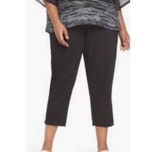Eileen Fisher Black Cotton Crop Pants Size 2X